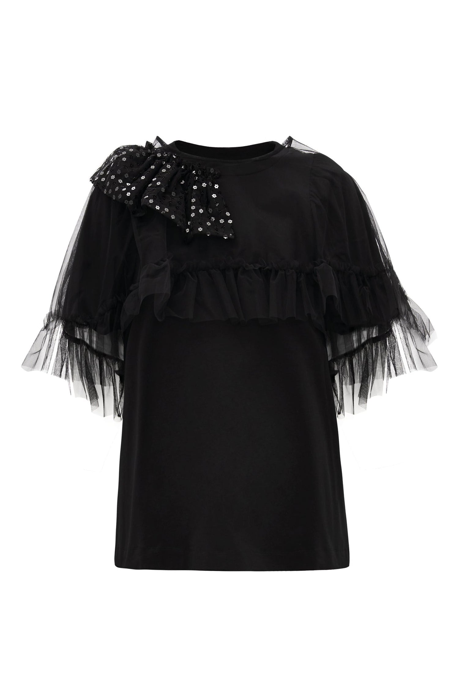 TULLE CAPE PUFF T