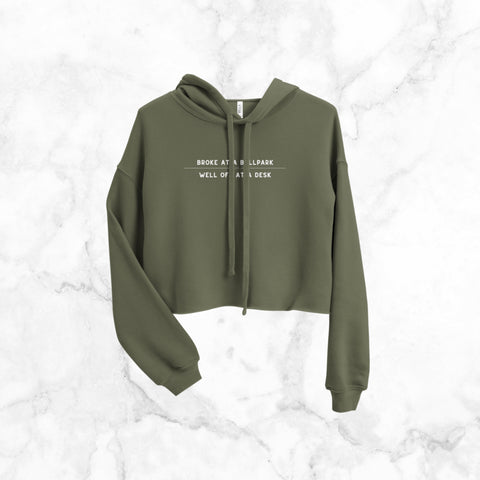 Broke at a Ballpark | Cropped Hoodie