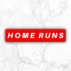 Home Runs | vinyl sticker