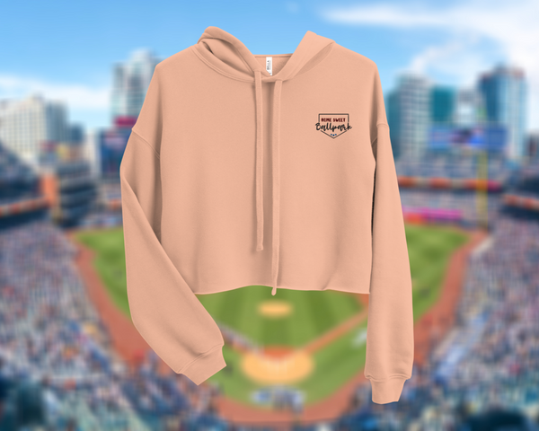Home Sweet Ballpark | Embroidered Cropped Hoodie