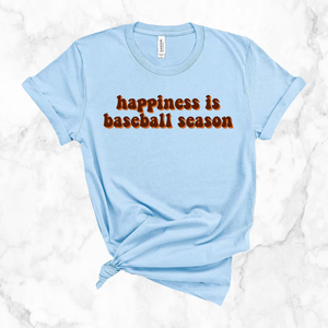 happiness is baseball season | unisex tee