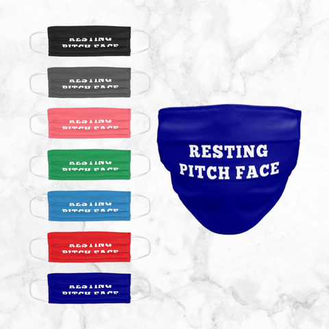 resting pitch face | face mask
