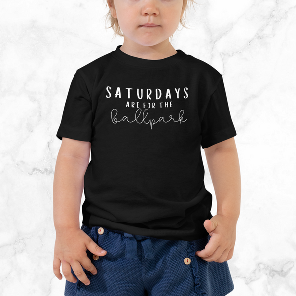 saturdays are for the ballpark | toddler tee