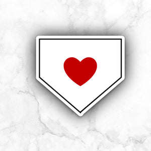 Home Plate Heart | vinyl sticker