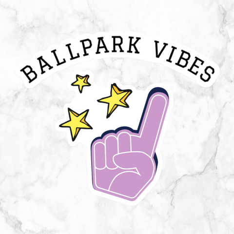 ballpark vibes | vinyl sticker pack