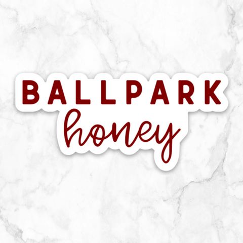 ballpark honey | vinyl sticker