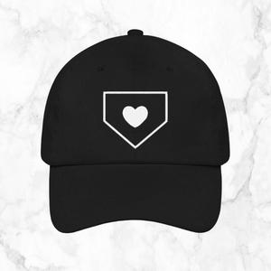 home plate heart | dad hat