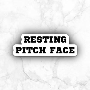 Resting Pitch Face | vinyl sticker