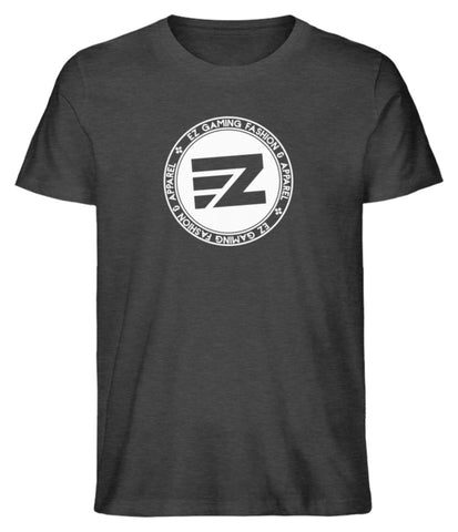 EZ Fashion Herren T-Shirt aus Bio-Baumwolle in dark heather grey