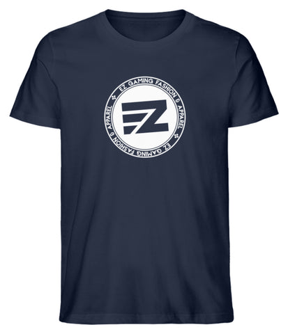 EZ Fashion Herren T-Shirt aus Bio-Baumwolle in navy