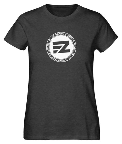 EZ Fashion Damen T-Shirt aus Bio-Baumwolle in dark heather grey