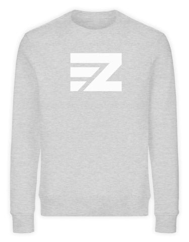 EZ Sweatshirt in heather grey aus Bio-Baumwolle mit Logo-Print in weiß