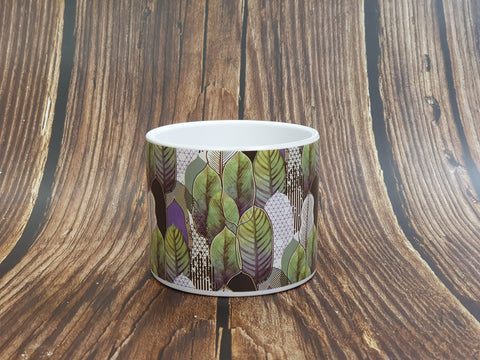 Geometric Leaf Print Pot