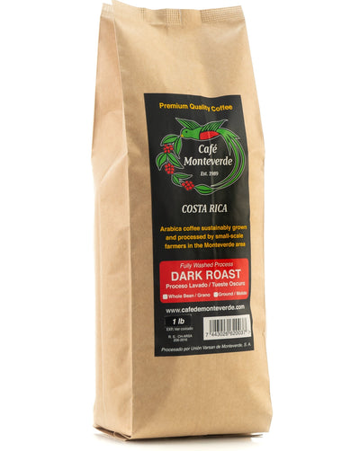 Cafe Monteverde Dark Roast Arabica Coffee Costa Rica