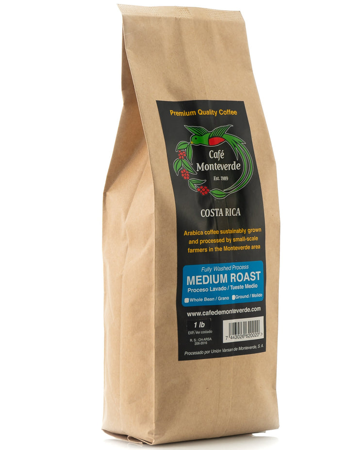 Cafe Monteverde Medium Roast Arabica Coffee Costa Rica