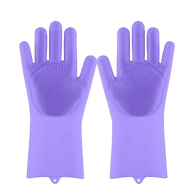 Magic Silicone Cleaning Scrubber Gloves