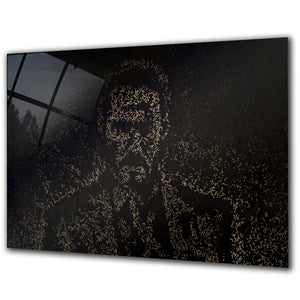 A Portrait Made From Bullets (110x70cm)
