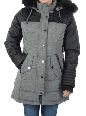 Winter coat with removable hood