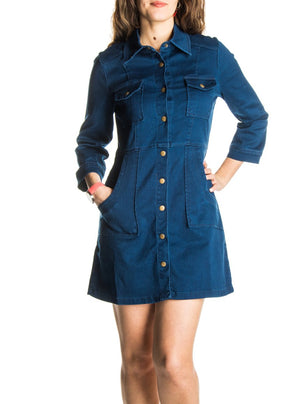 Robe en denim