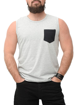 Camisole grise homme