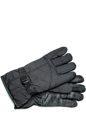 Black Lined Gloves