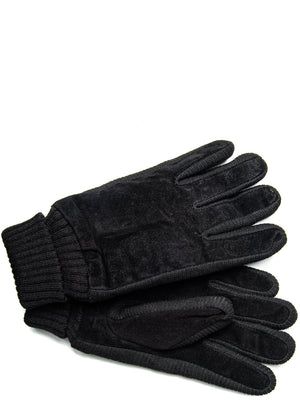 Lined suede gloves