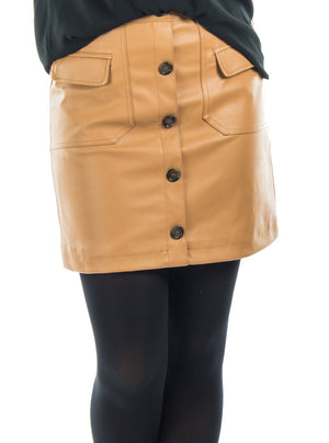 Skirt Vero Moda imitation leather