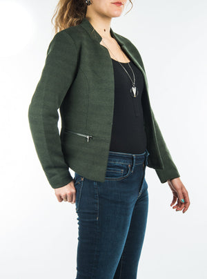 The forest green blazer Only