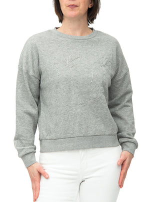 Tonal embroidery jumper-style sweater | B. Young
