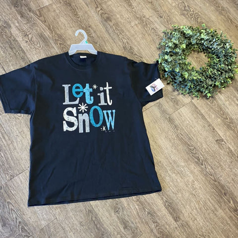 Women Tee Shirt | Let It Snow | Trendy T Shirts