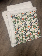 Woodland Flannel / Minky Back Blanket