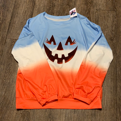 Women's Long Sleeve | Halloween Multi Colored Top | Trendy T Shirts