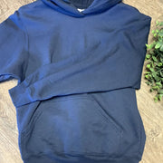 Kid Blank Hoodies Hoodies Trendy T Shirts S Dark Blue