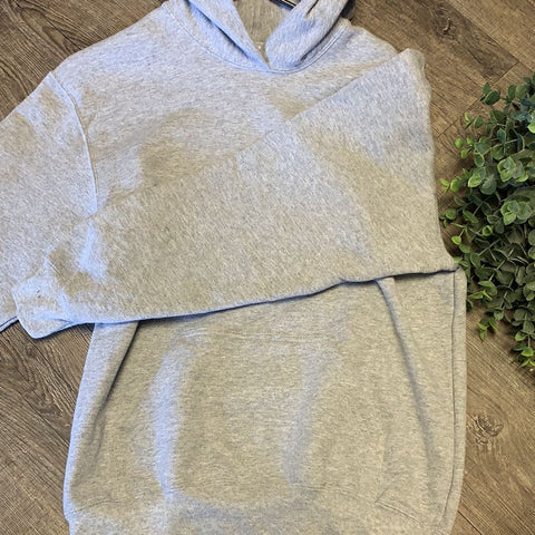 Kid Blank Hoodies Hoodies Trendy T Shirts S Light Gray