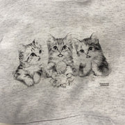 Kid Heat Pressed Hoodies Hoodies Trendy T Shirts Med Light Grey Kitties