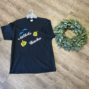 Women Tee Shirt | Aloha Beaches | Trendy T Shirts Shirts Trendy T Shirts Medium Black w/Yellow