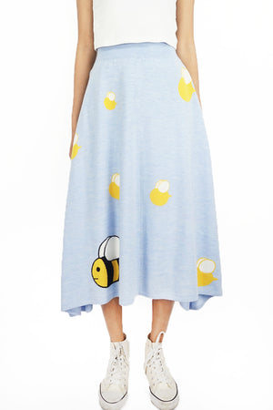 Open image in slideshow, Bee Knitted Skirt in Blue