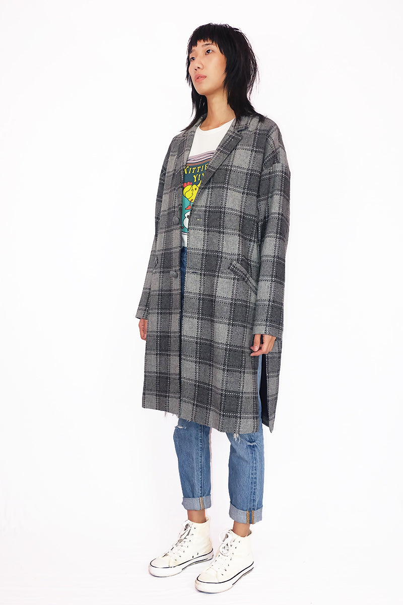Grey Checkered Coat