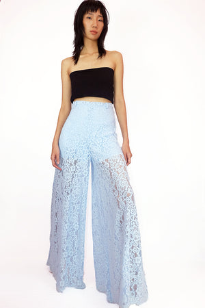 Open image in slideshow, Blue Lace Pants