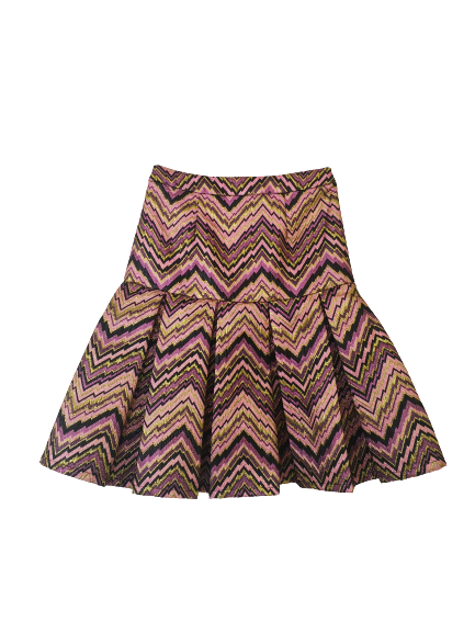 Purple Box Pleated Skirt
