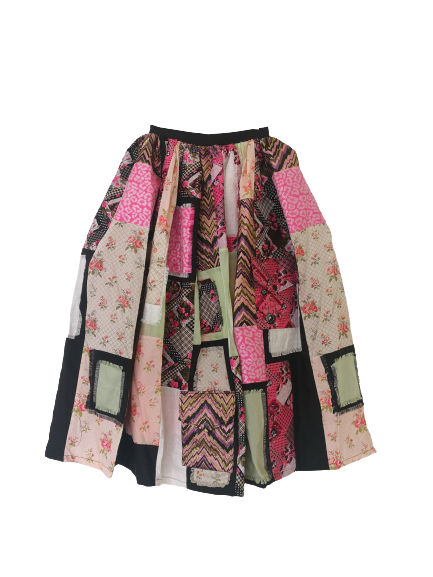 Patch Skirt with Pockets