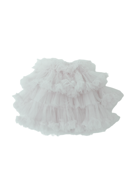 White Fluffy Cloud Dress