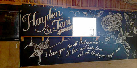 Personalized Wedding Mural 2016