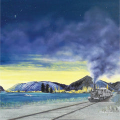 Last Train to Beaumont Oil Painting New Zealand Artist
