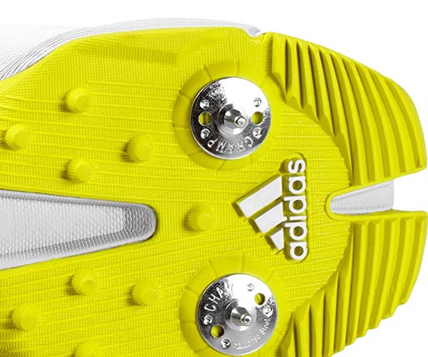 Rubber outsole with added lugs and 7/2 spike configuration provides best traction for batsmen.