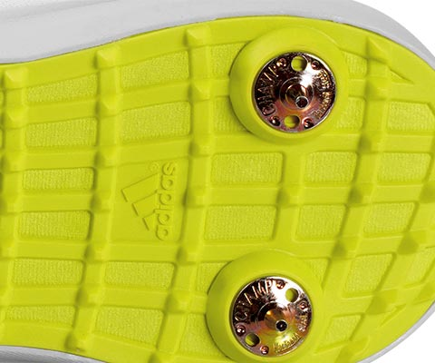 TPU grid outsole reduces overall weight while providing stability and traction