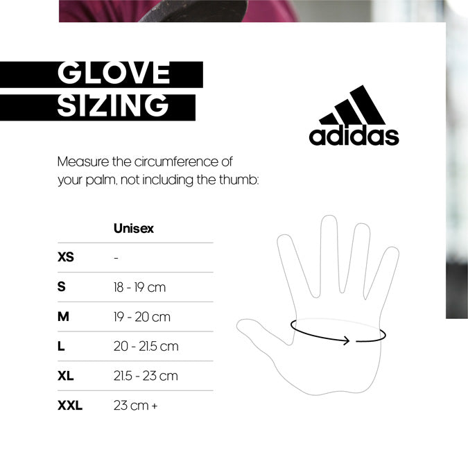 adidas gloves size chart