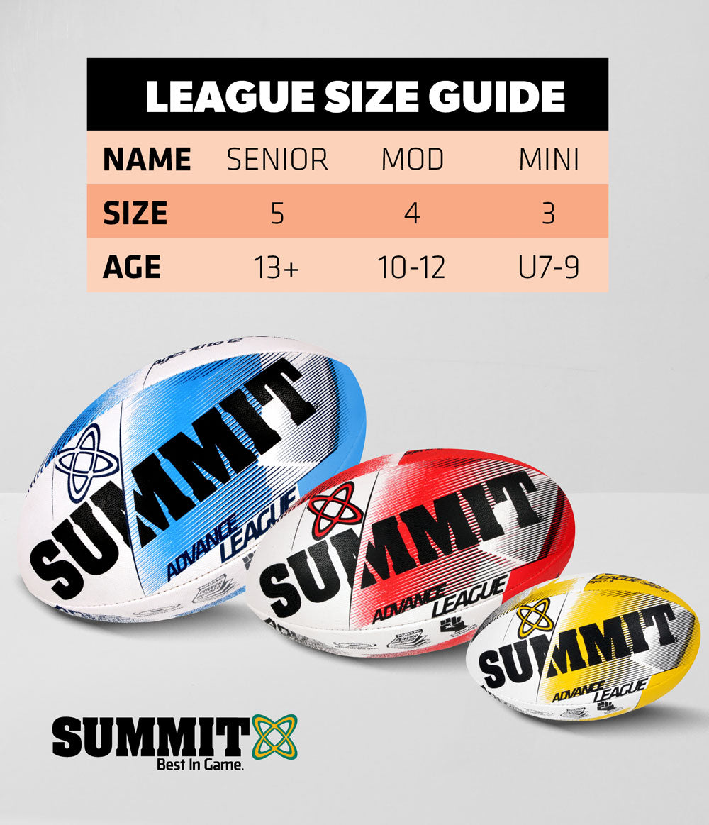 Rugby League Size Guide