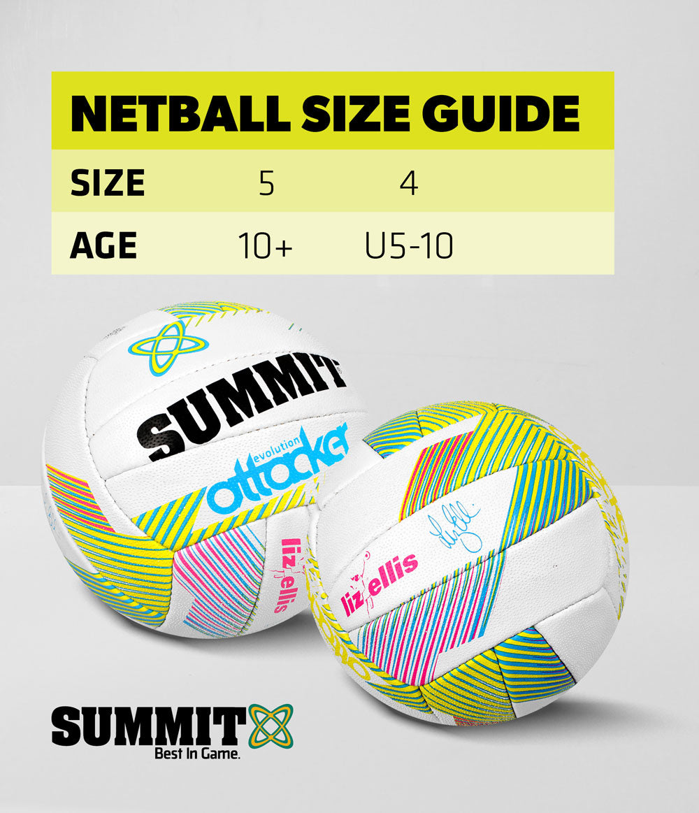 Summit Netball Size Guide