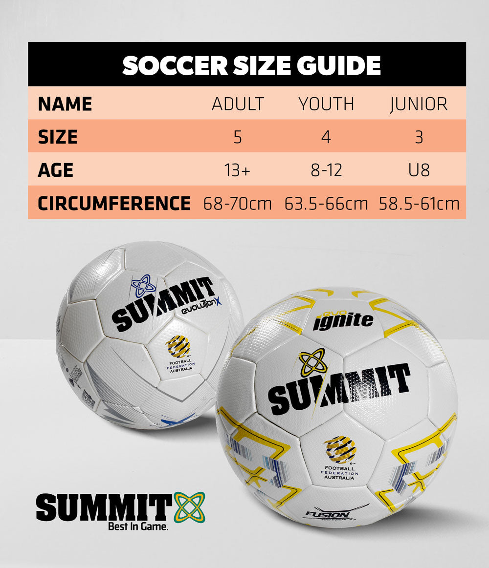 Summit Soccer Size Guide